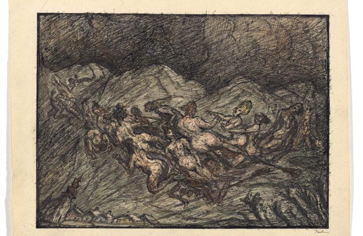 """Rysunki Alfreda Kubina pokazywane są w Monachium w nawiązaniu do grupy """"Der Blaue Reiter"""". Kolekcjoner Kurt Otte tworzył swoje archiwum jeszcze we współpracy z samym rysownikiem, które pod koniec stanowiło najobszerniejszą prywatną kolekcję."""