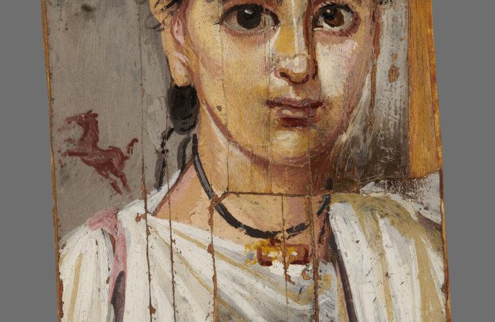 Portret chłopca Egipt, Fajum, 2 poł. II w. n.e. drewno, enakustyka Muzeum Narodowe w Warszawie zakup (1939) fot. Muzeum Narodowe w Warszawie